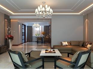 ,200平,20万,现代,四居,客厅,灰白,