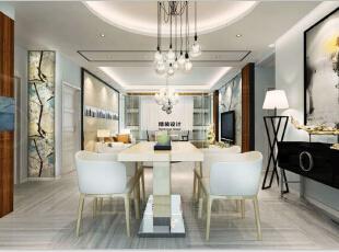 国龙绿城怡园87平方两室两厅现代简约风格装修效果图 餐厅,87平,5万,现代,两居,餐厅,