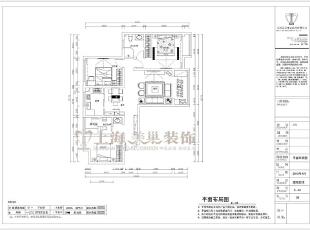 永威五月花城138平三室两厅新中式风格装修户型图,138平,6万,中式,三居,