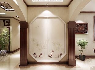 ,200平,16万,中式,四居,客厅,原木色,白色,