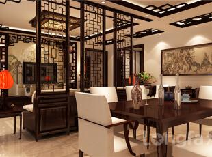 ,143平,5万,中式,三居,客厅,原木色,红色,