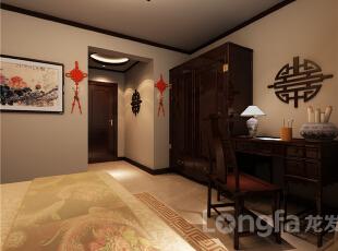 ,143平,5万,中式,三居,卧室,原木色,