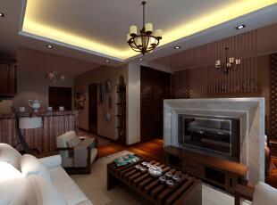 吧台 个性实用 设计理念:砖砌的吧台起到了分割了厨房和客厅的作用,还解决了餐厅的就餐问题,个性实用。亮点:设计师对空间进行了较大的变动,厨房移到了门厅的位置,使空间合理化,吧台上的格子布帘和整体的色调,风格性十足,45平,6万,小资,一居,客厅,原木色,