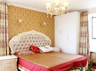 ,145平,7万,简约,三居,卧室,黄色,