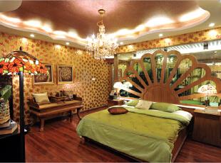 ,261平,35万,混搭,别墅,卧室,黄白,