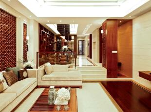 ,280平,60万,中式,四居,客厅,白色,