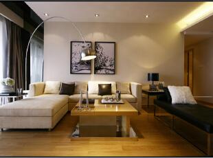 紫禁尚品国际装饰——客厅 暖色的灯光 温馨 舒适,153平,36万,简约,三居,客厅,原木色,黑白,黄色,