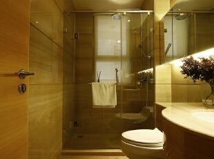 紫禁尚品国际装饰——卫生间 干净 整洁 简单,153平,36万,简约,三居,卫生间,黄色,白色,
