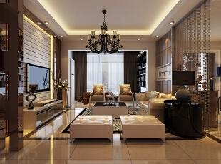 ,140平,16万,欧式,四居,客厅,咖啡色,白色,