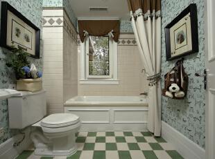 把洗手区域独立出来,将洗漱区和如厕区单独划分出来,两个空间都可以加入洗手盘,让单一的卫生间灵活地使用起来,从此摆脱卫生间不够用的烦恼。,330平,25万,田园,四居,卫生间,白蓝,