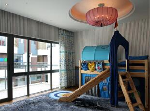 绿地蔷薇九里复式户型装修泰式风格设计方案展示,上海聚通装潢最新完工案例,欢迎品鉴!,158平,42万,现代,复式,阳台,白色,蓝色,