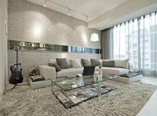 ,80平,14万,现代,三居,客厅,白色,简约,黑白,