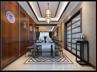 ,350平,100万,混搭,别墅,餐厅,中式,原木色,