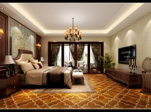 ,350平,100万,混搭,别墅,卧室,美式,原木色,