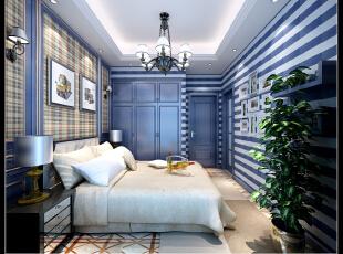 ,350平,100万,混搭,别墅,儿童房,美式,白蓝,