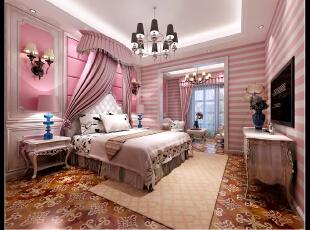 ,350平,100万,混搭,别墅,儿童房,粉色,美式,