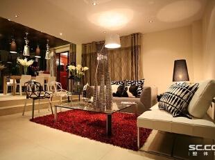 客厅设计: 简洁的三维空间,映衬婚期需要,为实际生活需求设下伏笔。,148平,13万,小资,两居,