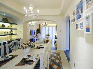 宝华海尚郡领三居室装修地中海风格设计方案实景展示!,110平,22万,现代,一居,地中海,蓝色,