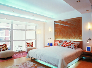 ,领袖翡翠山,北京装修设计,别墅装修风格,别墅装修设计,卧室,白黄,
