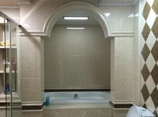 卫生间,170平,150万,新古典,三居,卫生间,白色,黄色,