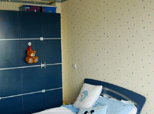 ,139平,25万,现代,四居,卧室,白蓝,