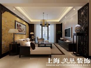 翰宇天悦128.5平方四室两厅客厅装修效果图,128平,6万,中式,四居,客厅,原木色,