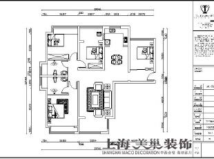 翰宇天悦128.5平方四室两厅平面设计方案,128平,6万,中式,四居,