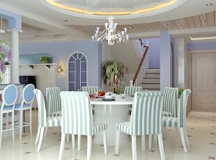 ,121平,11万,地中海,餐厅,白紫,