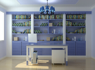 ,121平,11万,地中海,书房,白紫,