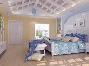 ,121平,11万,地中海,卧室,白蓝,