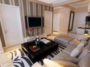 ,67平,3万,现代,两居,客厅,暖色系,简约,