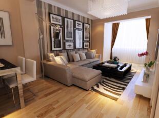 ,67平,3万,现代,两居,沙发背景,简约,