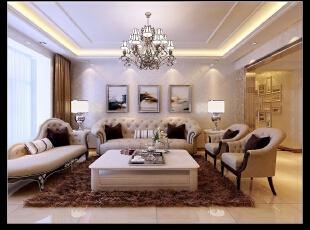 平阳景苑130平--三居室--现代简约装修设计效果图,130平,现代,三居,春色,田园,客厅,