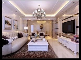 平阳景苑130平--三居室--现代简约装修设计效果图,130平,115000万,现代,三居,简约,客厅,白色,