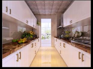 平阳景苑130平--三居室--现代简约装修设计效果图,现代,三居,厨房,阳台,简约,白色,