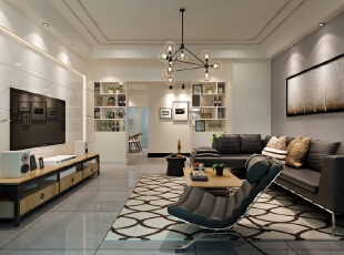 ,140平,12万,现代,四居,客厅,白色,