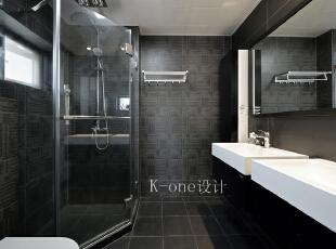 卫生间,118平,35万,现代,三居,卫生间,黑白,