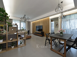 客厅,118平,35万,现代,三居,客厅,简约,原木色,绿色,