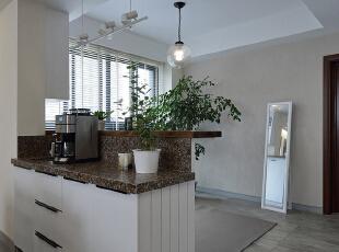 吧台,118平,35万,现代,三居,厨房,简约,黑白,