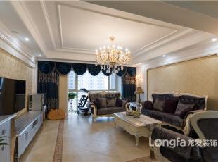 ,220平,15万,四居,新古典,客厅,黄白,