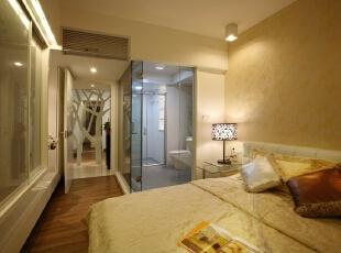,110平,7万,现代,三居,卧室,暖色,