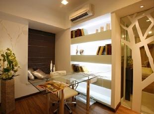 ,110平,7万,现代,三居,书房,白色,