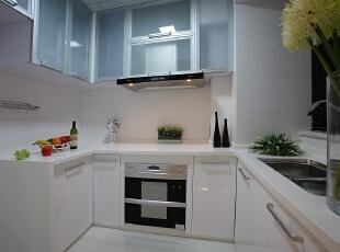 ,110平,7万,现代,三居,厨房,白色,