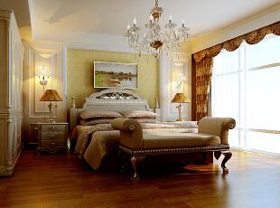 ,220平,25万,美式,大户型,卧室,黄白,