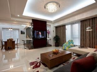 整个大客厅中体现很多的设计能力 充分利用平米。,116平,13万,两居,简约,