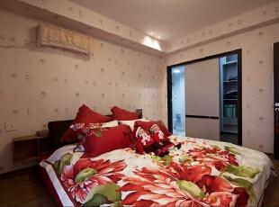 ,116平,13万,两居,简约,卧室,暖色,