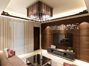 中央城-中式三居-中央城107平新中式风格三居室