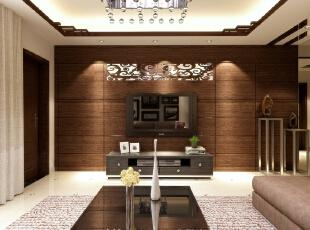 ,107平,82800万,中式,三居,客厅,棕色,