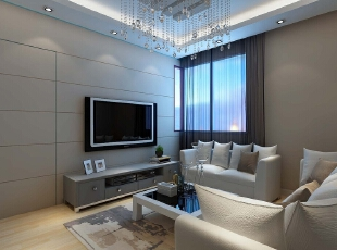,98平,82800万,简约,三居,客厅,白色,