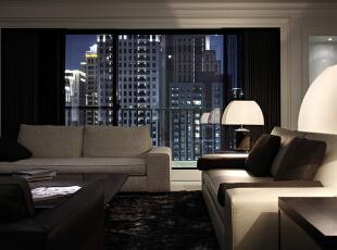 ,220平,30万,现代,四居,客厅,黑白,